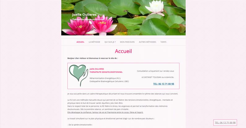 Site joelle-therapeute-31.fr