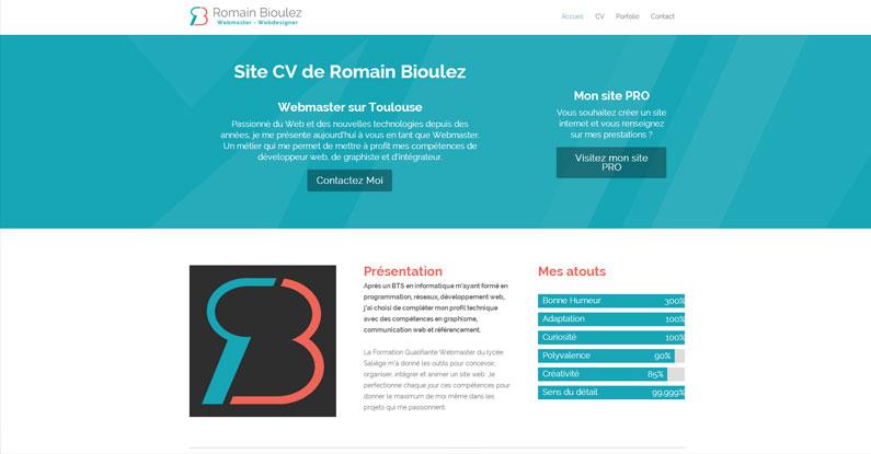 refonte du site cv - site cv romain bioulez